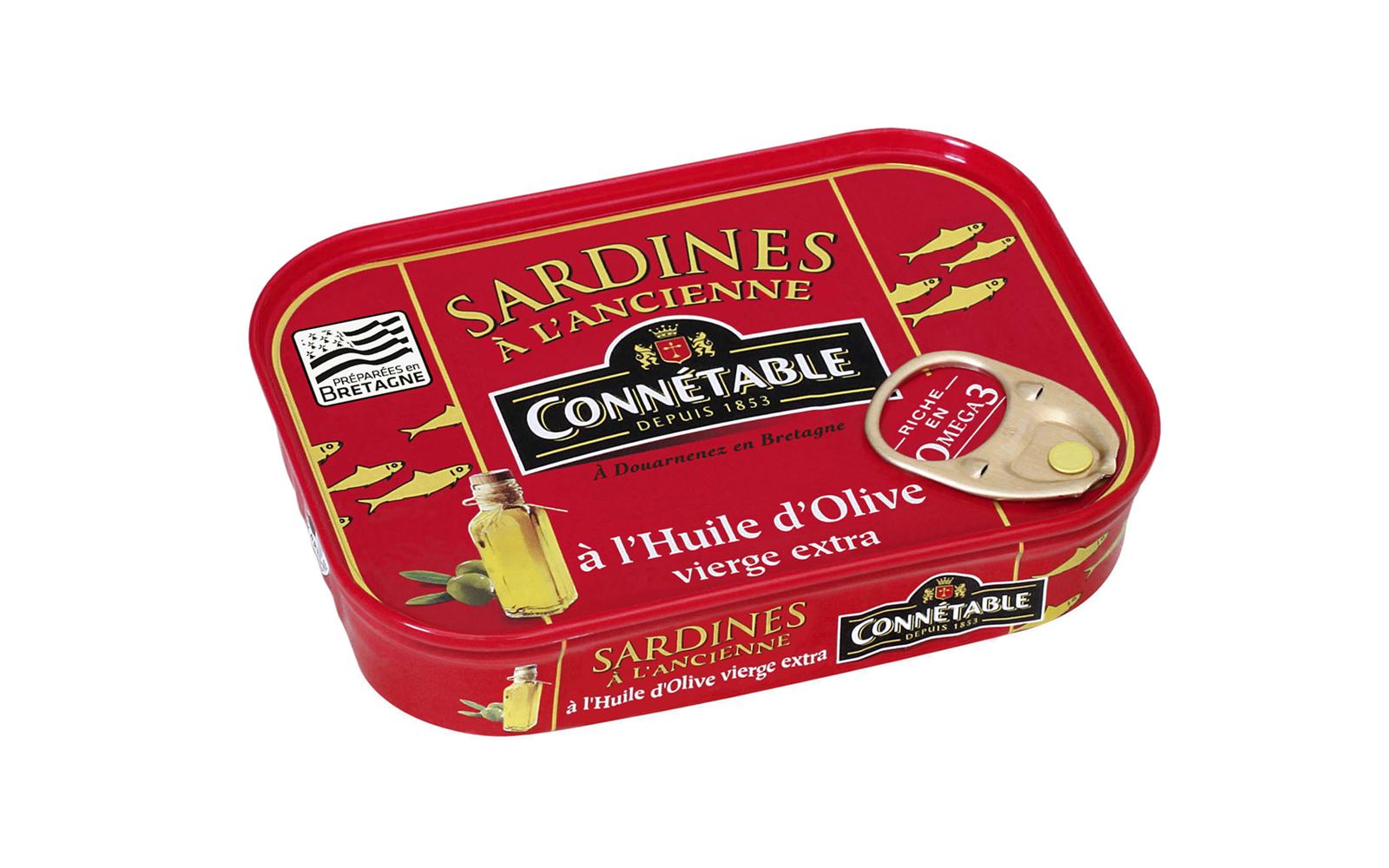Photo boîte de Connétable Sardines à l'ancienne