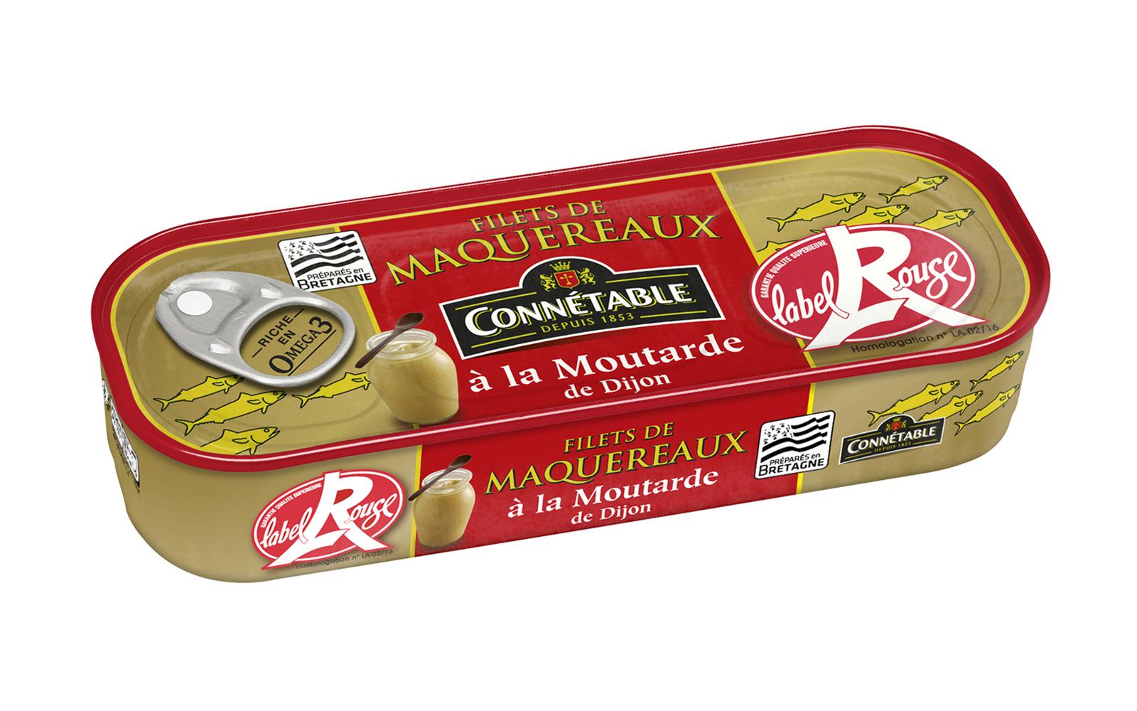 Photo boîte de Filets de Maquereaux à la moutarde