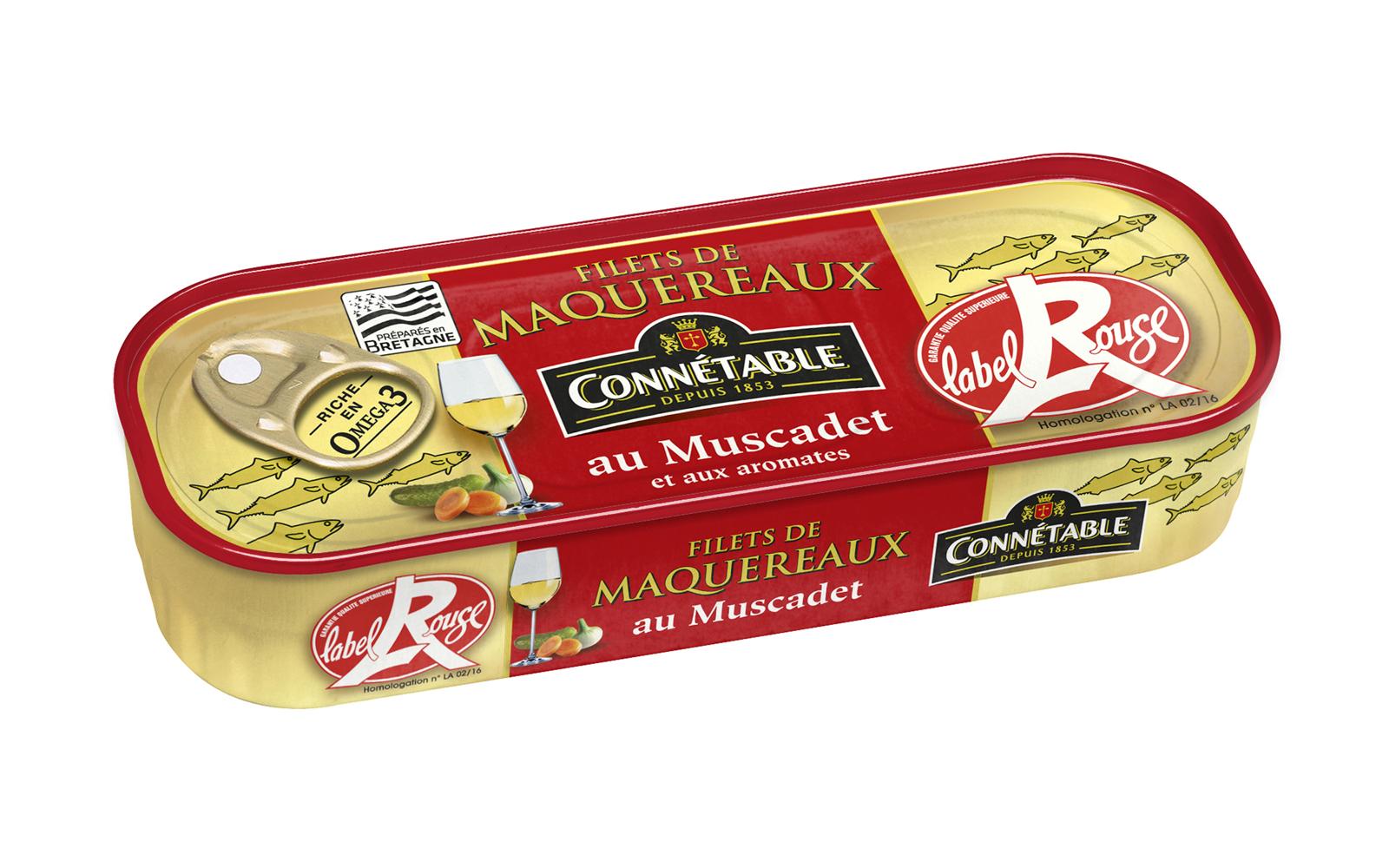 Photo Boîte de filets de maquereaux muscadet